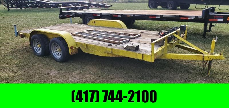 1990 Hull 83X16 TANDEM 7K CAR HAULER W/STAB JACKS & WINCH