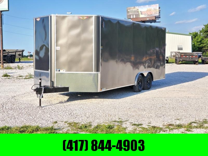 2020 H&H 101 X 20 TANDEM 10K CHARCOAL CARGO W/7' HEIGHT &  BLACK WHEELS