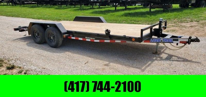 2021 Load Trail 83X18 TANDEM 10K CAR HAULER W/STAB JACKS & SLIDE OUT RAMPS