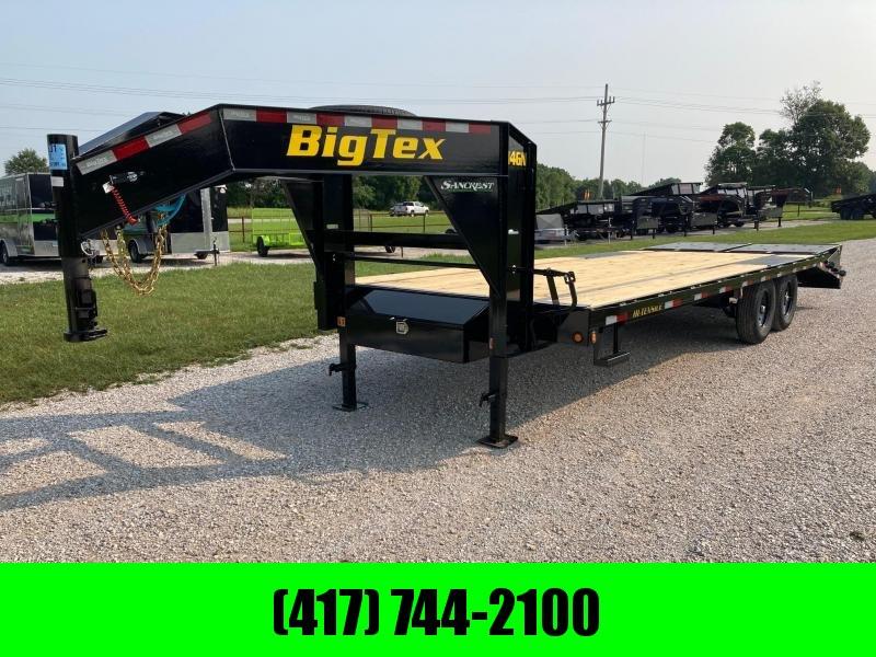 2022 Big Tex 102X25 TANDEM 14K GOOSENECK DECKOVER W/ MAX RAMPS