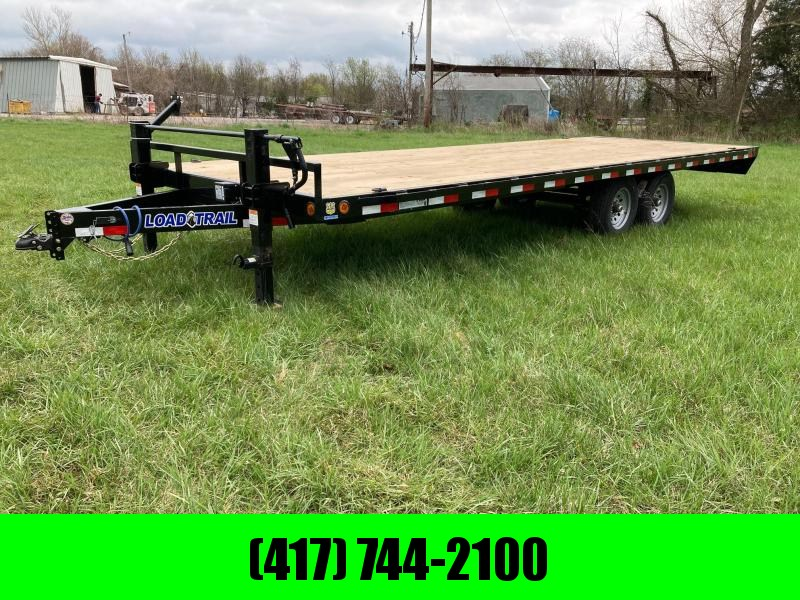 2021 LOAD TRAIL 102X24 TANDEM 14K DECKOVER W/ SLIDE IN RAMPS