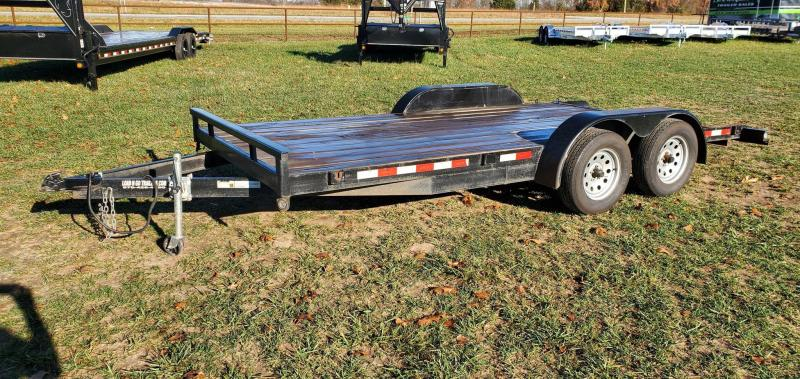 2018 LDNG 83X16 TANDEM 7K CAR HAULER W/SLIDE OUT RAMPS & ELEC. BRAKE