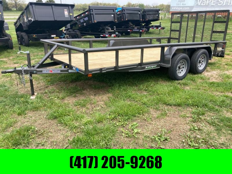 2021 Double A 83x16 Tandem Utility Trailer