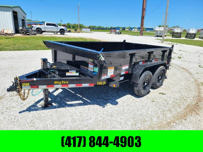 "2021 Big Tex Trailers 83X12 TANDEM 14K DUMP W/ 24"" SIDES & SLIDE IN RAMPS"