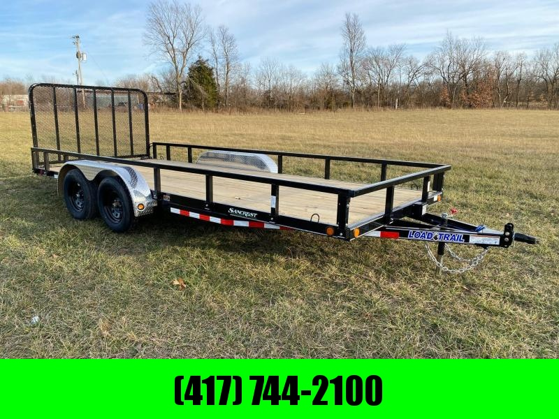 2021 Load Trail 83X18 TANDEM 7K UTILITY W/CAR HAULER FRAME & REMOVABLE SIDES
