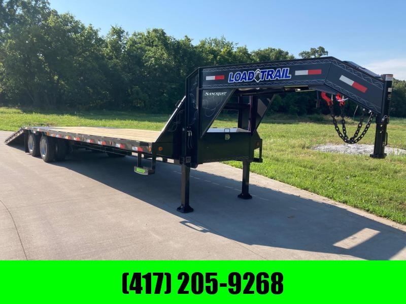 2021 Load Trail 102x34 Tandem GN Flatbed Trailer W/ 10 FT Hydrotail, Hydraulic Jacks, & 15K Axles