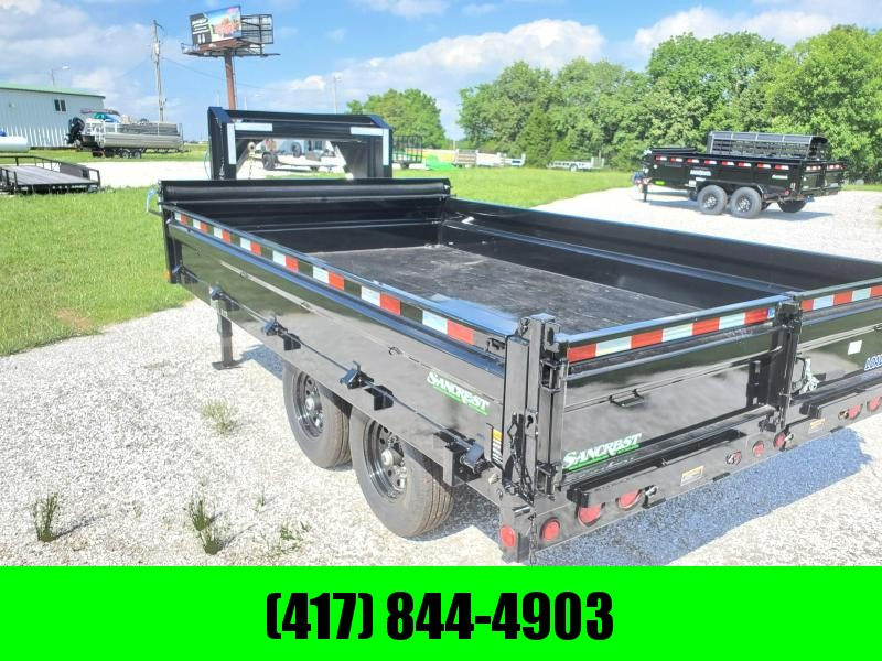 "2020 Load Trail 96"" x 14' Tandem Axle Gooseneck Deck Over Dump"