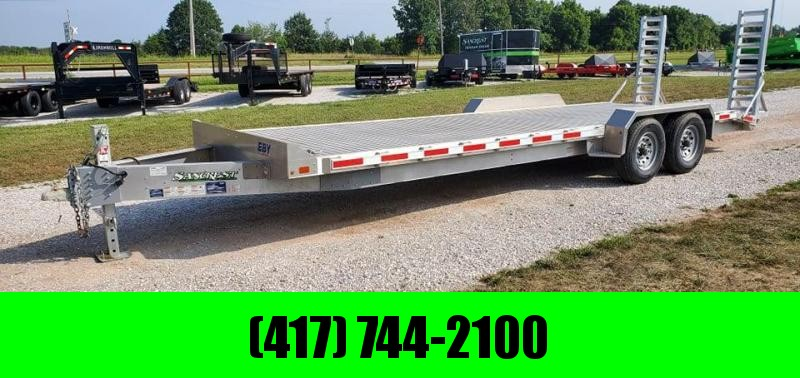 2019 EBY 82X24 TANDEM 14K ALUMINUM EQUIPMENT HAULER W/STAND UP RAMPS AND EXTRUDED DECK