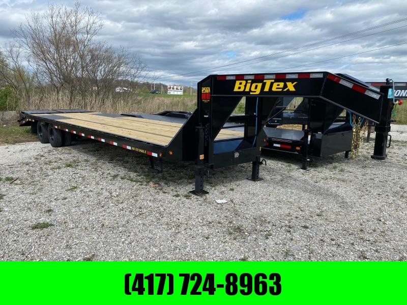 2021 Big Tex Trailers 102x33 Tandem GN Flatbed Trailer