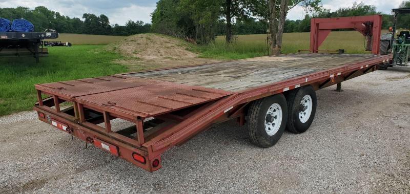 2000 Trailerman 96X24 TANDEM 14K GN W/4FT POP UP DOVETAIL NEWER TIRES & SLIDE OUT RAMPS