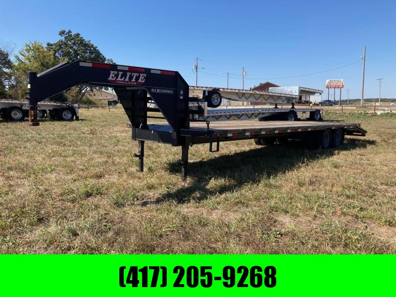 2016 Elite Trailers Tandem 22K GN Flatbed Trailer