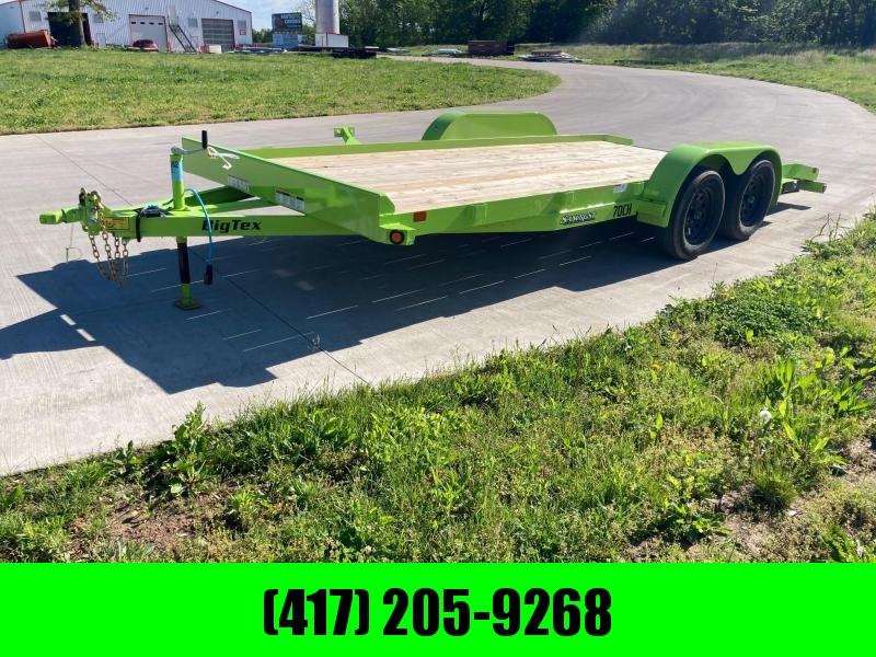 2021 Big Tex 83x18 Tandem 7K Flatbed Trailer