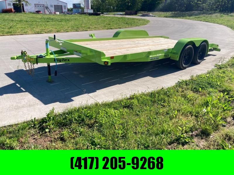 2021 Big Tex 83x18 Tandem 7K Flatbed Trailer