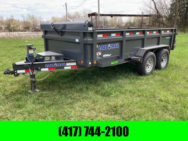 "2021 Load Trail 83X14 TANDEM 14K DUMP W/24"" SIDES & 50"" SIDE DOOR"