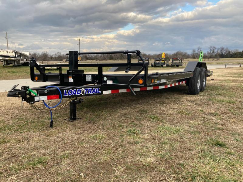 2021 Load Trail 102x20 TANDEM 14K EQUIPMENT HAULER W/SLIDE OUT RAMPS & STAB JACKS