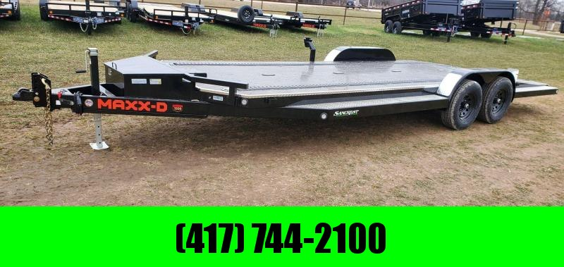 2021 MAXXD 83x22 TANDEM 10K CAR HAULER W/SPLIT TAIL IN-FLOOR LIGHTS ETRAC & DNL TOOLBOX
