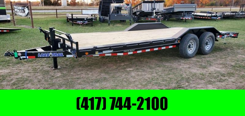 2021 Load Trail 102X22 TANDEM 14K CAR HAULER W/2FT DOVE STAB JACKS & SLIDE OUT RAMPS
