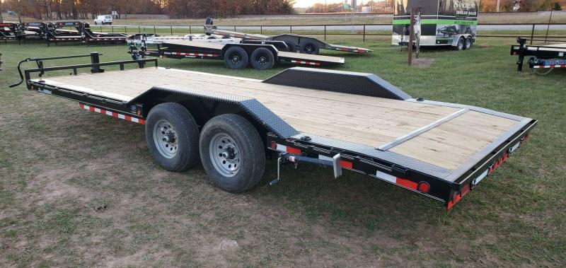 2021 Load Trail 102X22 TANDEM 14K CAR HAULER W/2FT DOVE STAB JACKS & SLIDE OUT RAMPS