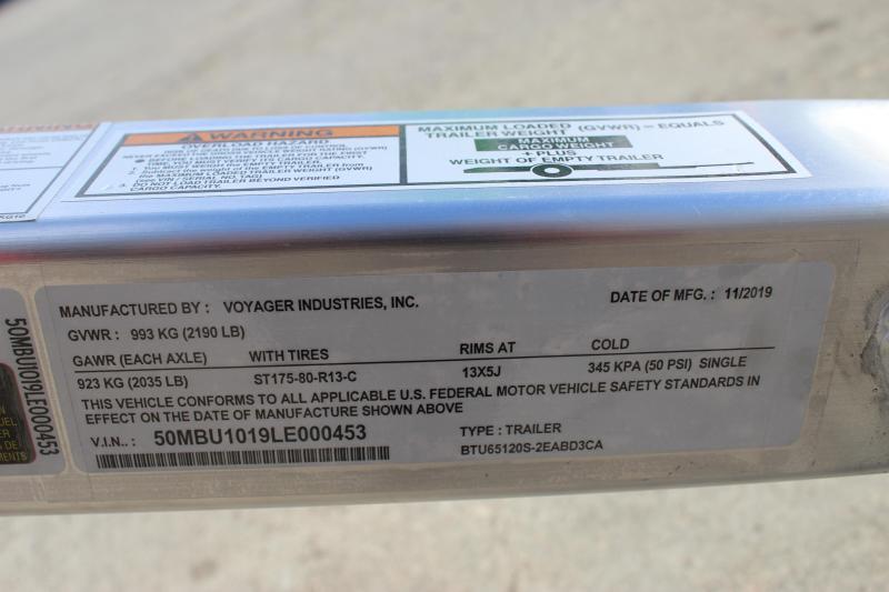 2020 Bear Track BTU65120S Utility Trailer