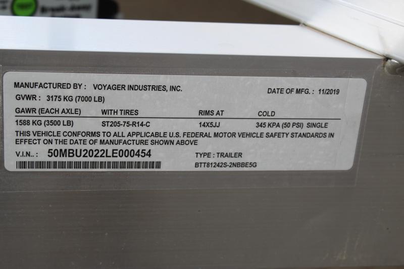 2020 Bear Track BTT81242S Utility Trailer