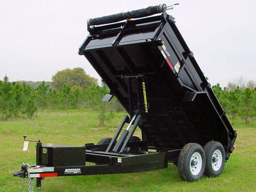2019 Anderson Manufacturing D7147TLP Dump Trailer