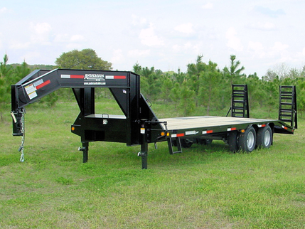 2019 Anderson Manufacturing G83010TW Flatbed Trailer