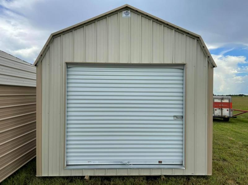 2021 General Shelters 12'x20' Garage with Lean-To Canopy Garage/Carport