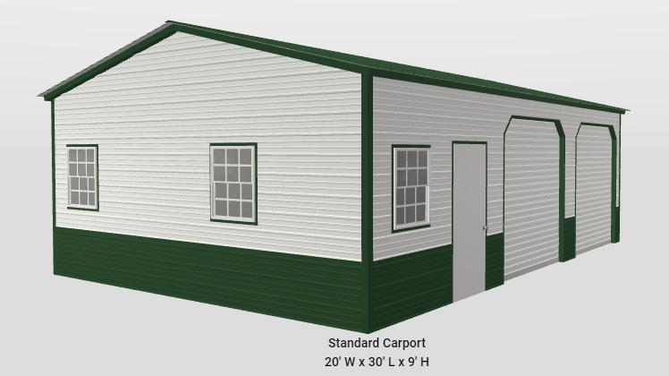 2021 Star 20x30x9 Garage Shop Garage/Carport
