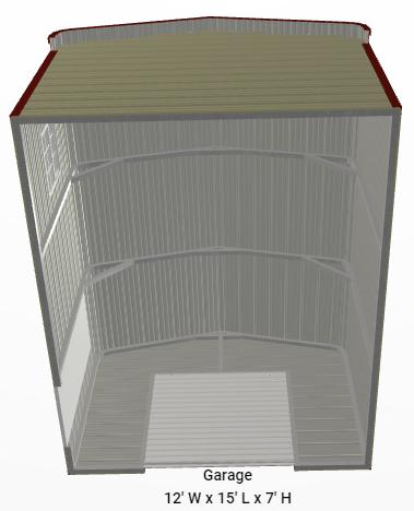 2021 Star 12'x15'x7' Mini-Storage Utility Shed (Custom)