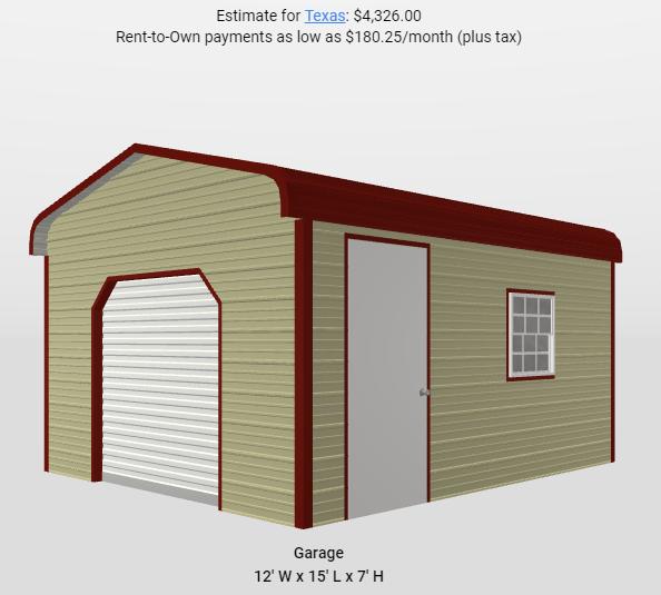 2021 Star 12'x15'7 Mini-Storage Utility Shed