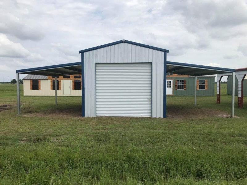 2021 Bedrock/General Shelters 32' x 20' x 12'/8' Enclosed barn with double lean-to