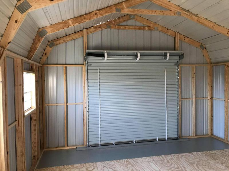 2021 General Shelters 16x20 with Garage Barn