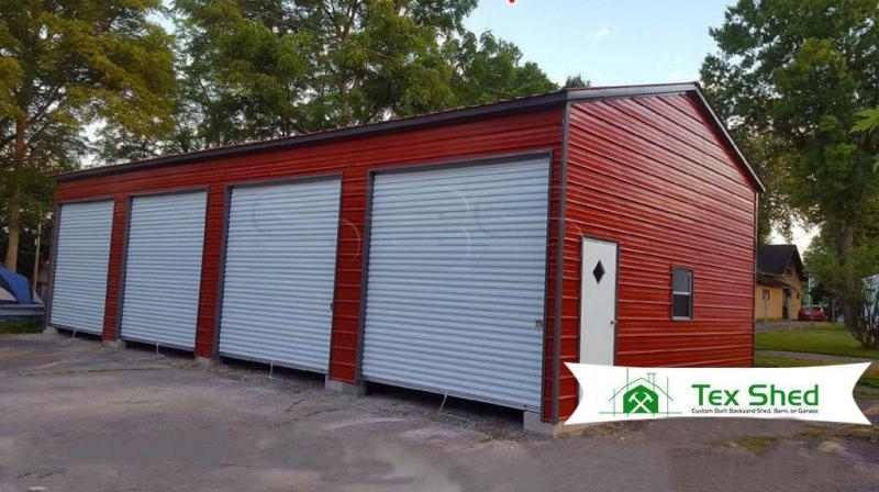 24 x 46 x 12 Side Entry 4 Bay Garage Workshop