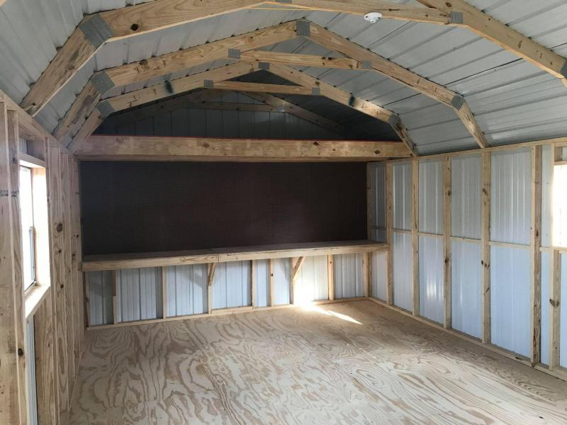 2021 General Shelters 14x24 with garage Barn