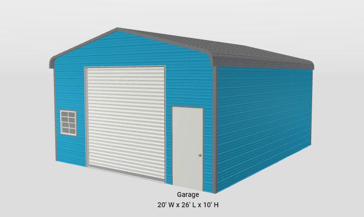 20 x 25 x 10 Regular Style Roof Shop