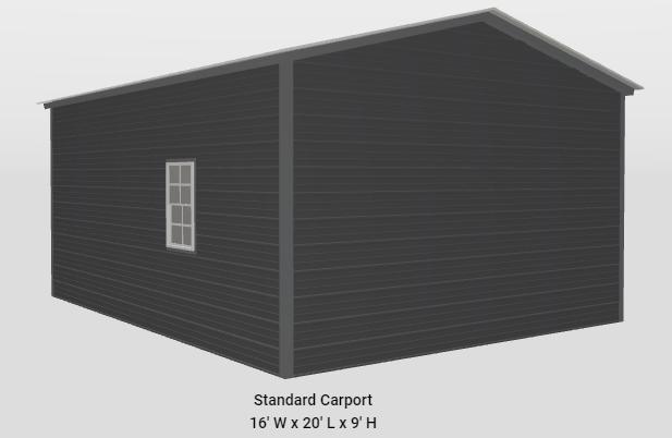 2021 Star 16' x 20' x 9' Garage Shop Garage/Carport