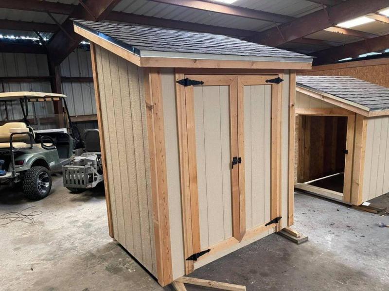 2021 TexShed 4'x6'x6'/7.5' Garden Tool / Trash Bin Storage