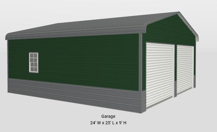 2021 Star 24x25x9 Two Car Garage