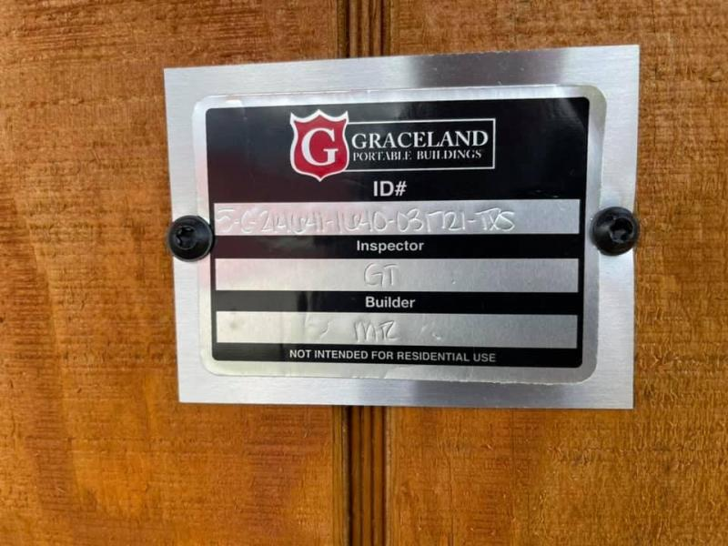2021 Graceland Portable Buildings 16' x 40' Cabin Cottage Shed