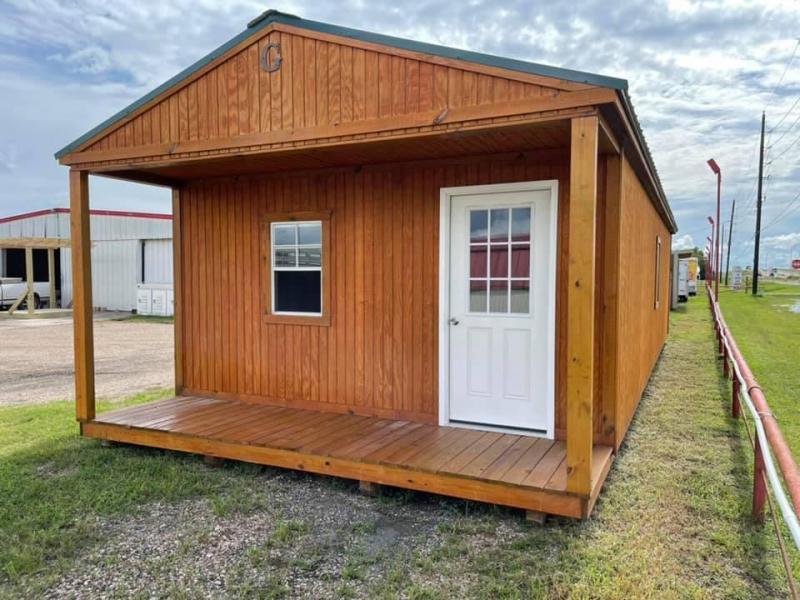 2021 Graceland 16' x 40' Cabin Cottage Shed
