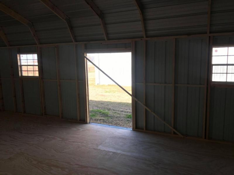 SOLD: 2021 General Shelters 16x30 with garage Barn