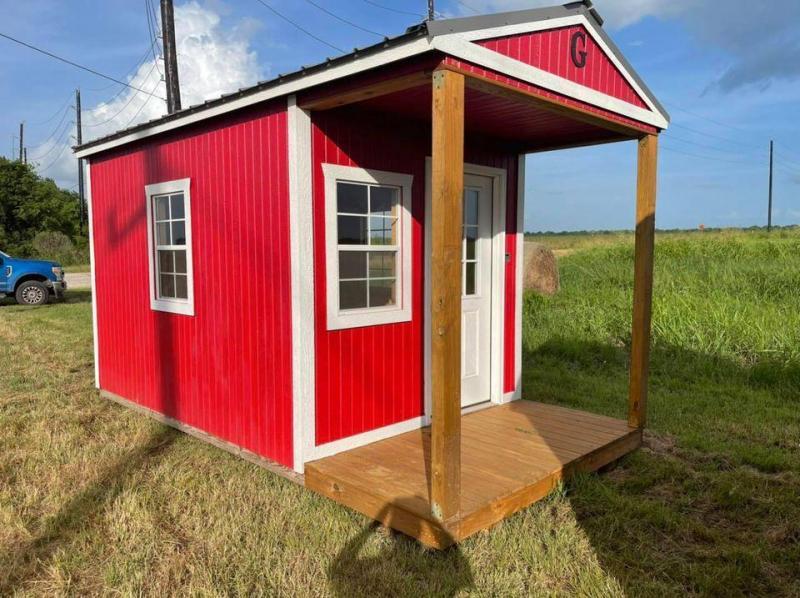 2020 Graceland 8'x16' Little Red Cabin Cottage Shed