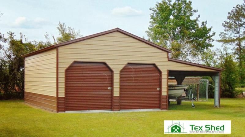 22 x 31 x 12 Two Car Steel Garage