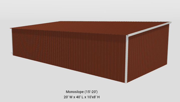 2021 Bedrock/General Shelters 40' x 20' x 10'/8' Ag/Equipment Pole Barn
