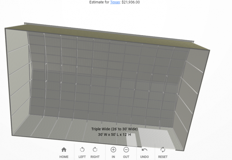 2021 Star 30 x 50 x 12 Barn - Vertical Roof & Sides