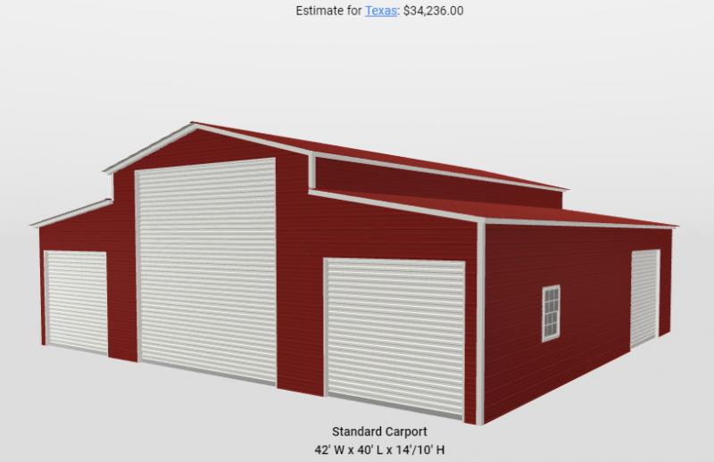 2021 Star 42'x40'x14'/10' Triple Wide Enclosed Barn Metal Building
