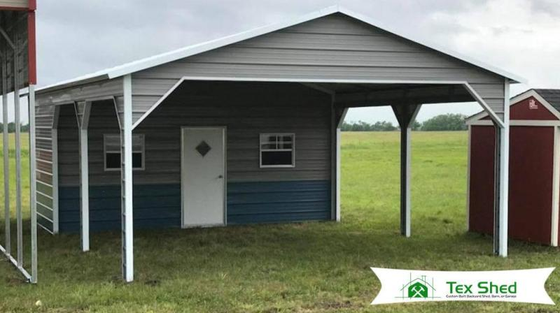 20 x 31 x 9 Carport/Shed Combo Unit