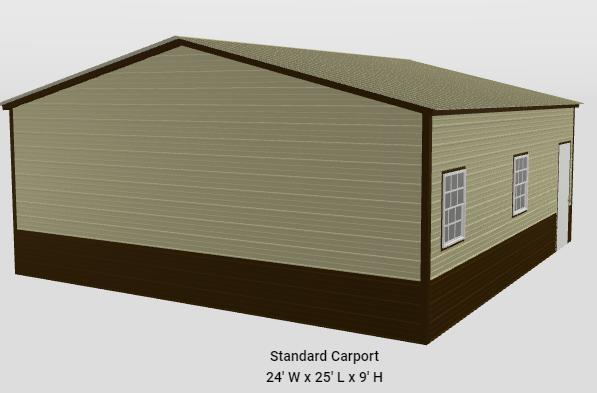2021 Star 24'x25'x9' Shop Garage/Carport