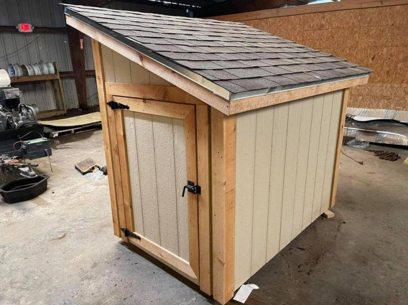 2021 TexShed 4'x6'x5' Monoslope Pool Pump (or Well) House