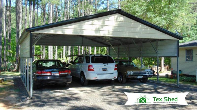24 x 26 x 8 Triple Wide Metal Carport
